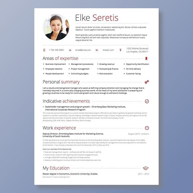 Modern Day Resume Creative Resume Template In Microsoft Wordcv With Modern And .