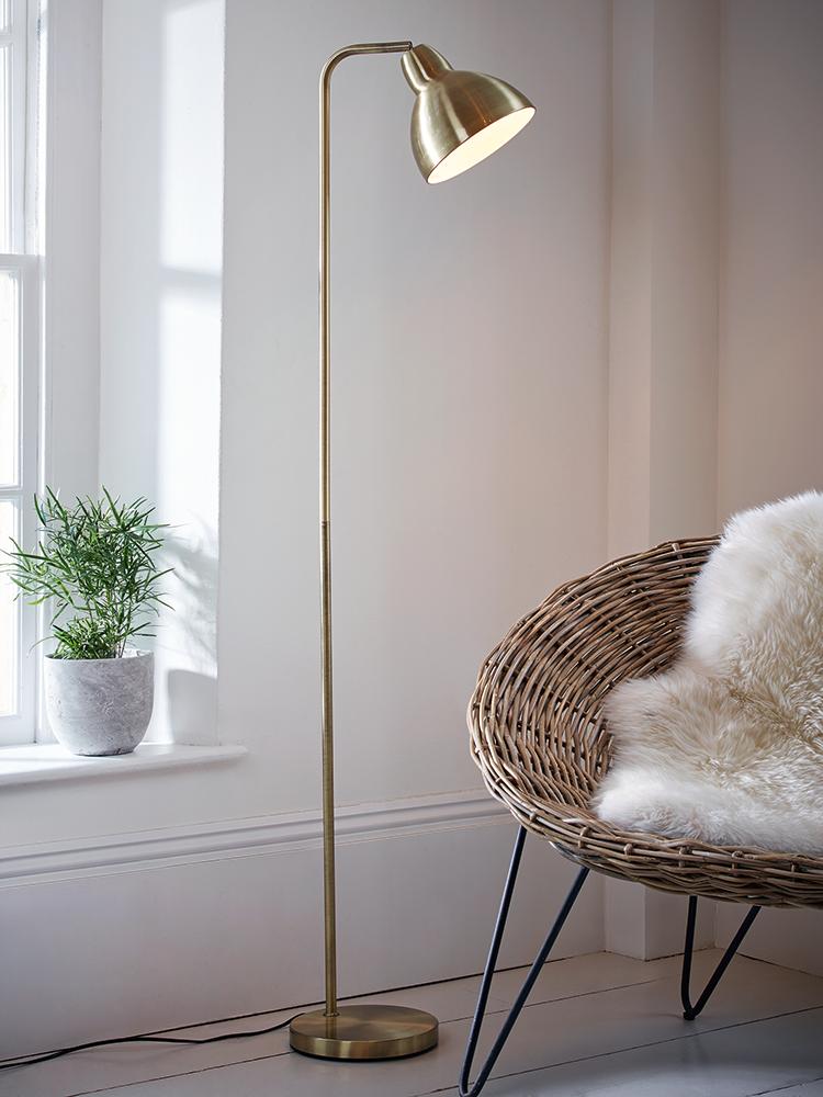 Brass Floor Lamp   studio apartment ideas   Pinterest   Brass ...