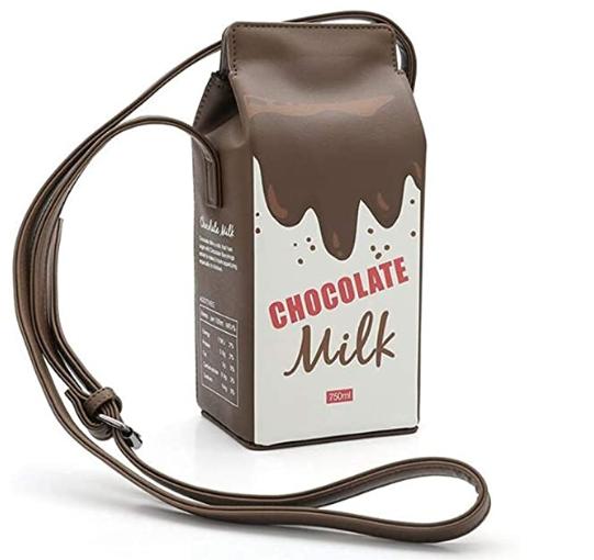 Kawaii Cute Chocolate Milk Box Crossbody Bag Phone Purse Purses Casual Crossbody Bag