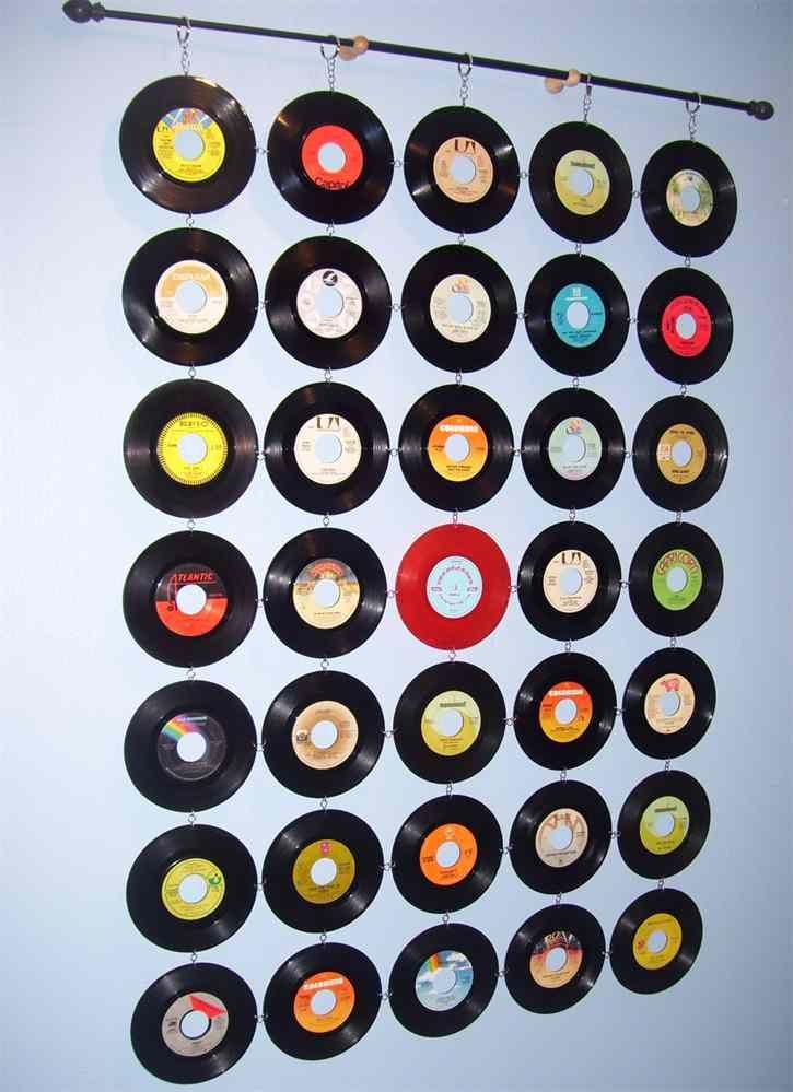 Vinyl Record Curtain Vinyl Record Crafts Record Crafts Vinyl Record Projects