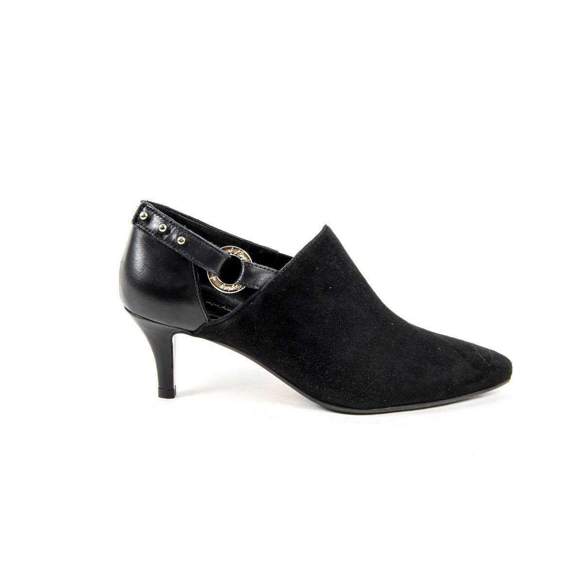 9a85fa62391 Versace 19.69 Abbigliamento Sportivo Srl Milano Italia Womens Heeled Shoe  KATE CAMOSCIO NERO