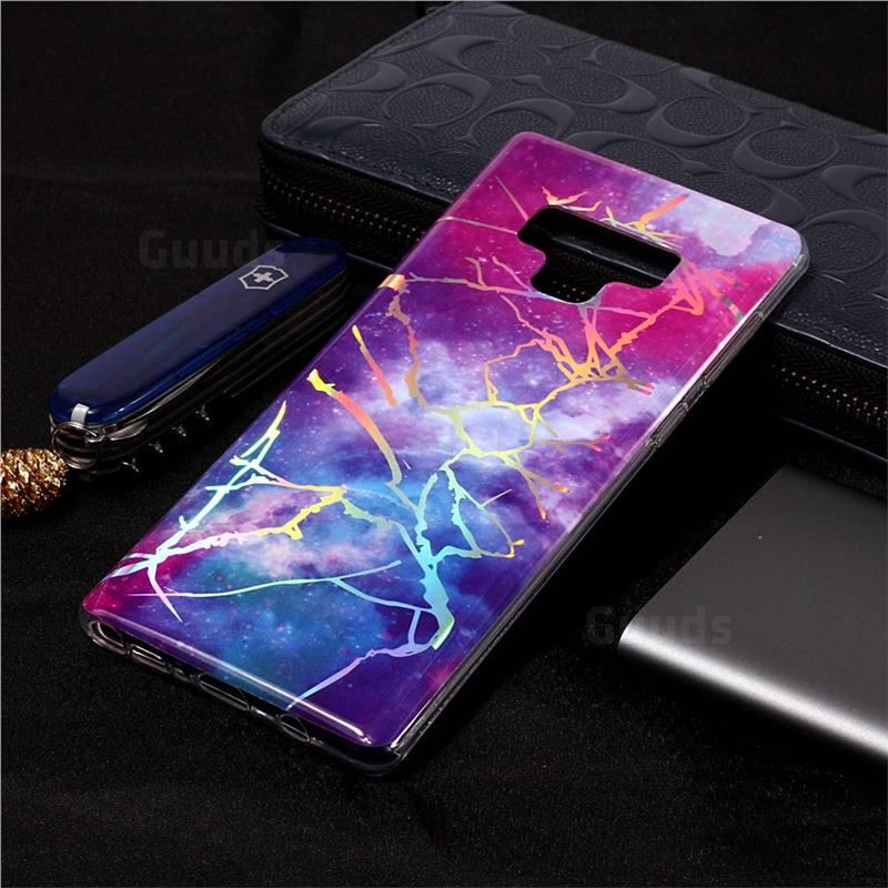 Dream Sky Marble Pattern Bright Color Laser Soft Tpu Case For Samsung Galaxy Note9 Guuds Samsungnote9 Galaxynote9 Marble Pattern Galaxy Fashion Phone Cases