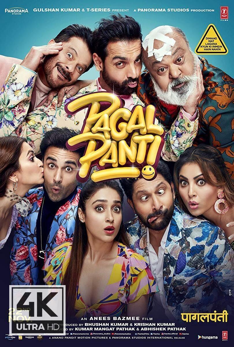 4k Ultra Hd Pagalpanti 2019 Watch Download Pagalpanti 2019 Hindi Movies Full Movies Download Free Movies