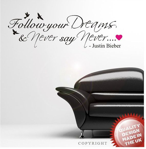 Positive Motivational Quote by Justin Bieber Vinyl Wall Sticker Wall Decoration