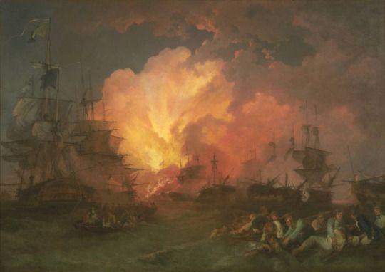 Battle of the NIle Phillip James de Loutherberg