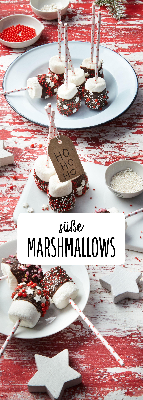 Festliche Marshmallow-Happen | Rezept | Süßes buffet ...