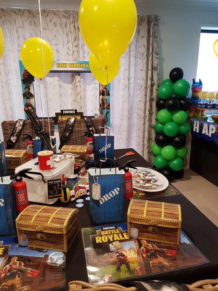 Fortnite party Boy birthday parties, 10th birthday parties