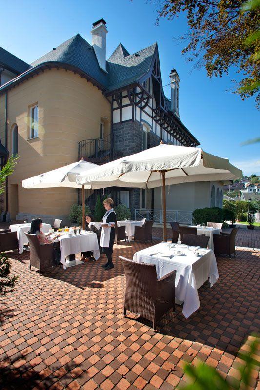 Terrace Of The Villa Soro Hotel In San Sebastian Spain