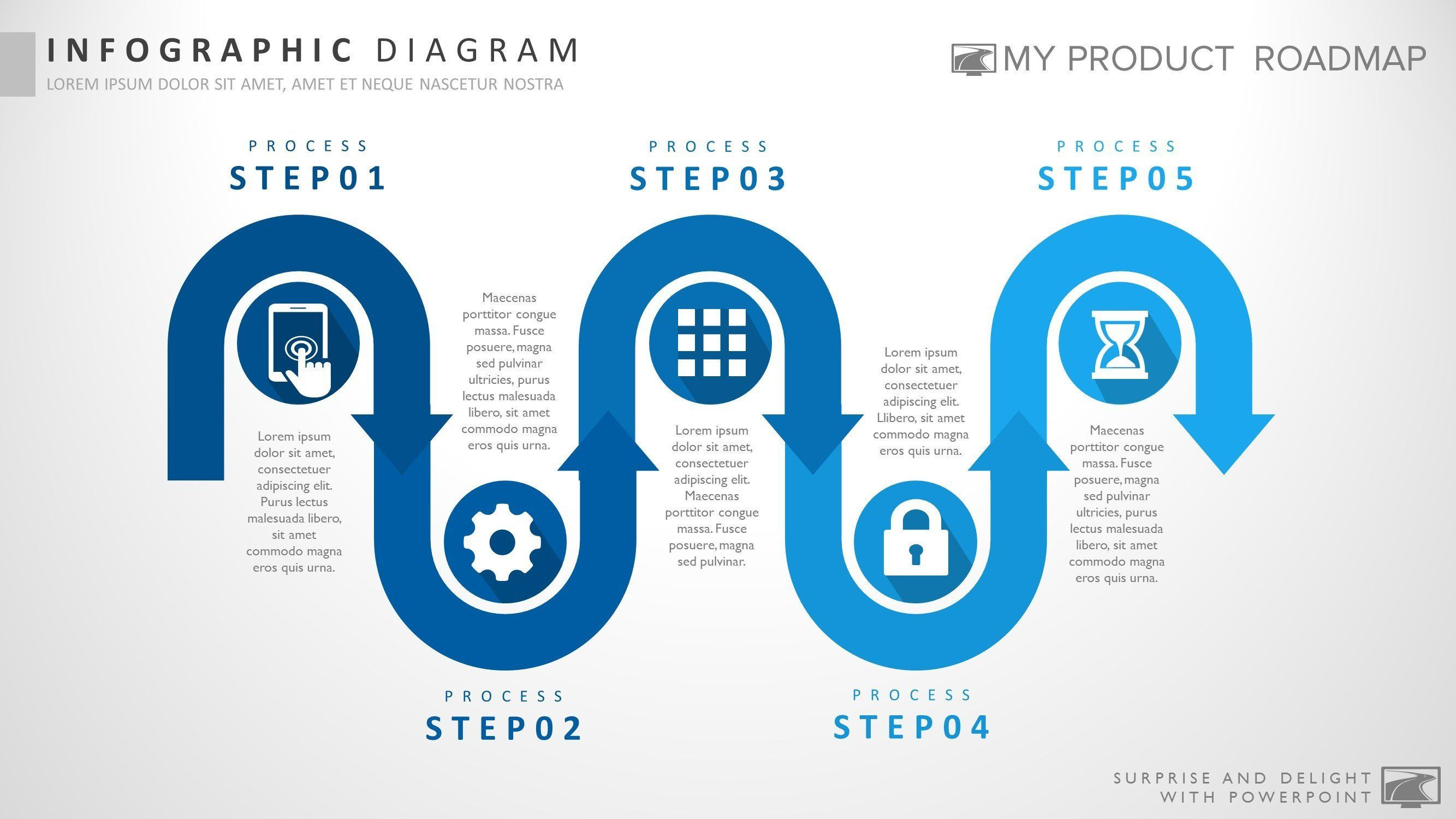 Five Stage Business Powerpoint Strategy Smartart Theme Template