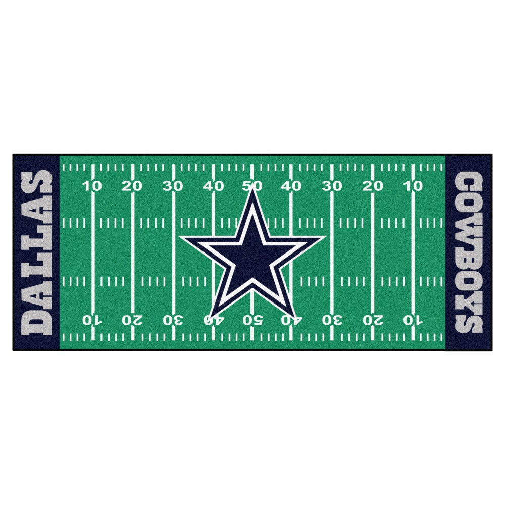 Area Rugs For Sale Dallas Cowboys Fanmats Football Field Runner Rug Multicolor