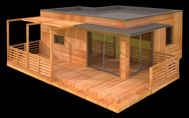 Studio de jardin hll maison ossature bois bureau de jardin hll