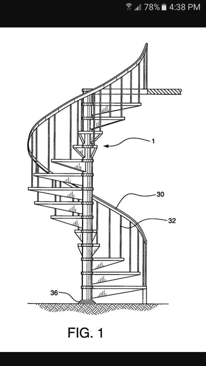 Pin De Cescil En Escaleras Pinterest Escalera ~ Dimensiones Escalera De Caracol