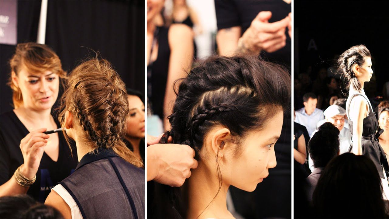 Braided hairstyle at the marissa webb show at nyfw hairstyle