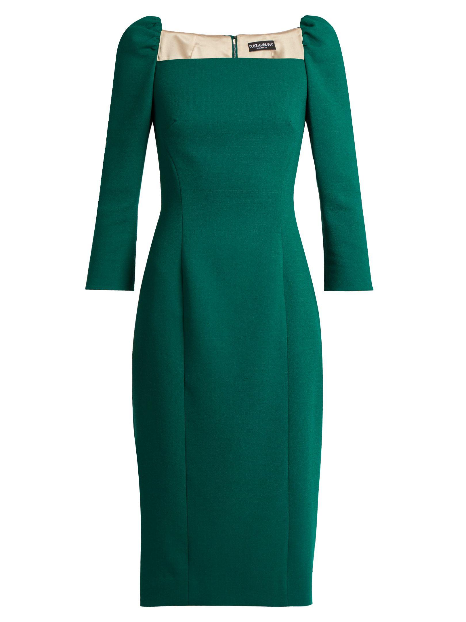 Square Neck Stretch Wool Pencil Dress Dolce Amp Gabbana Matchesfashion Com Uk Pencil Dress Dresses Glamorous Dresses [ 2160 x 1620 Pixel ]