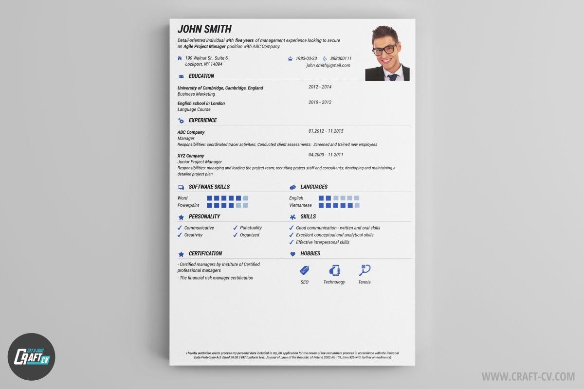 Resume Builder 36 Resume Templates Download Craftcv Resume Templates Creative Cv Template Downloadable Resume Template