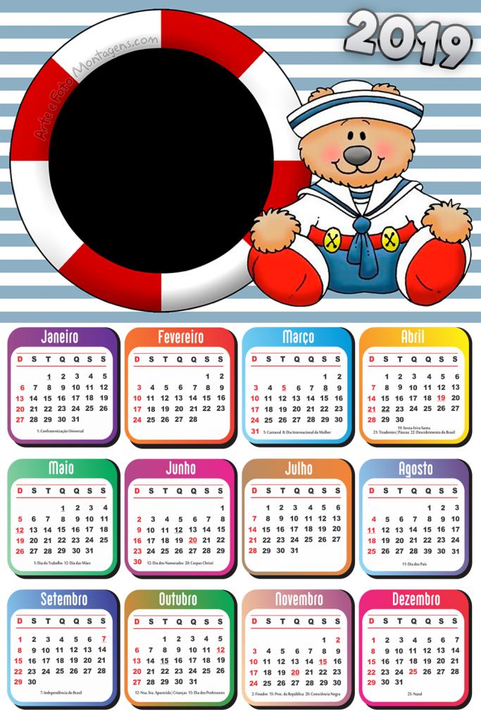Molduras Calendario 2019 Personagens De Desenho Animado Personagens De Desenhos Animados Calendarios Infantis Marinheiro