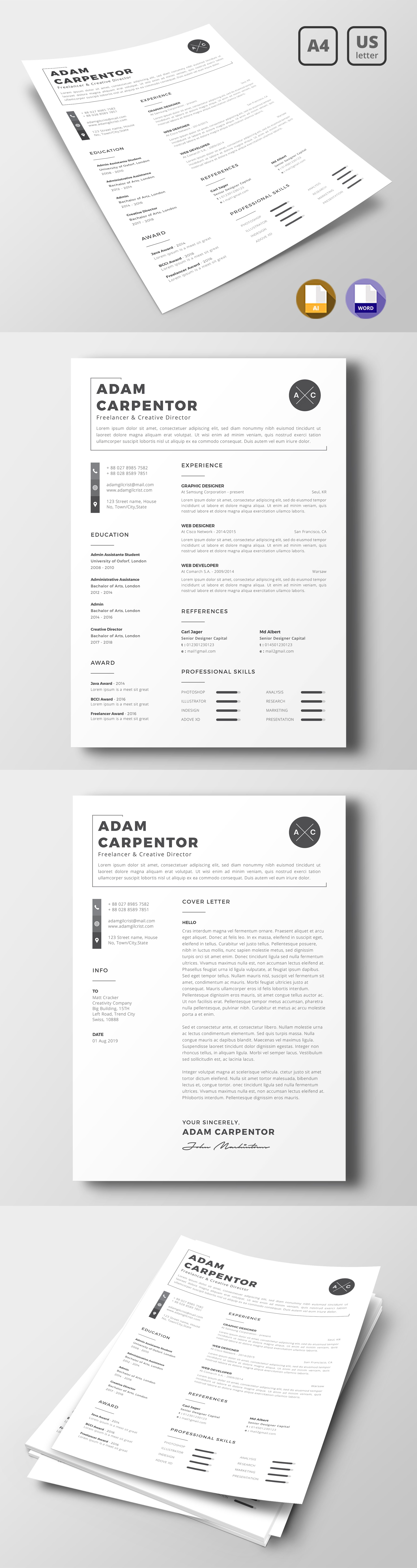 Adam Carpenton Resume Template Templates, Resume, Resume