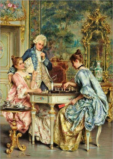 Arturo Ricci-italian,1854-1919-The chess game