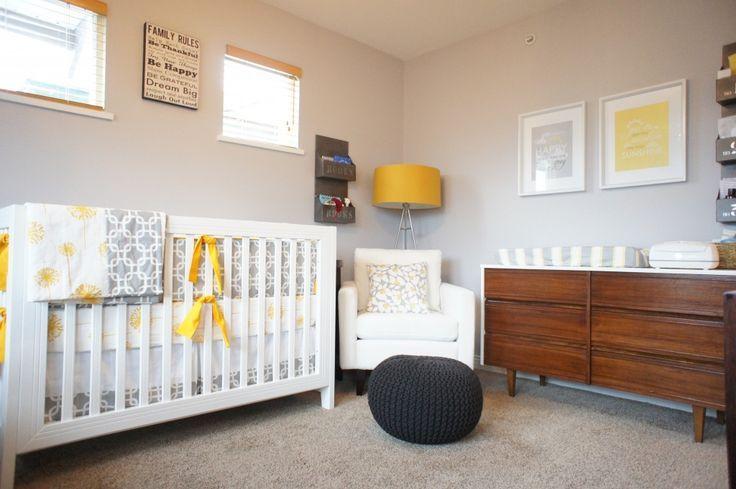 chambre bébé jaune et gris | minus | Pinterest | Chambres bébé ...