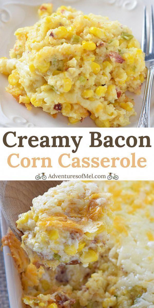 Creamy Bacon Corn Casserole recipe, easy to make and so delicious. Made with cornbread and cream ch
