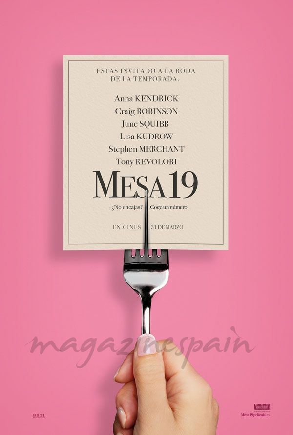Mesa 19 - Estrenos de Cine de la Semana… 31 de Marzo 2017