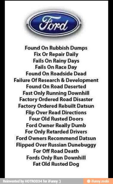 Found On Ford Jokes Chevy Jokes Ford Humor