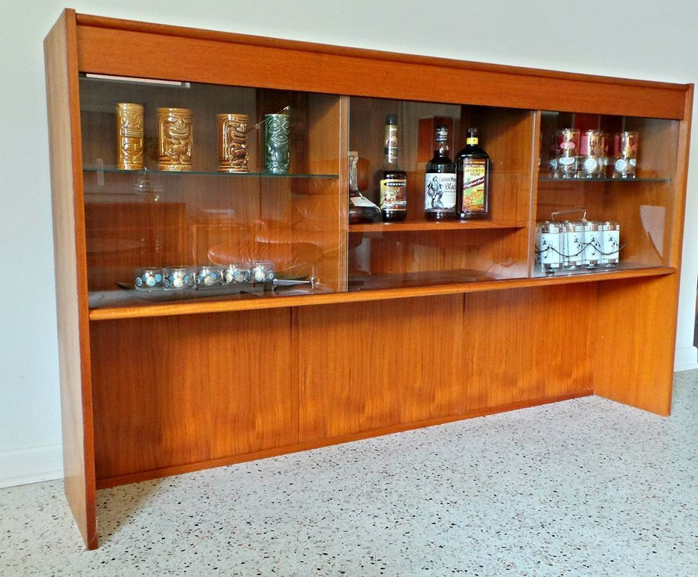 Dyrlund Danish Credenza : Mid century danish modern 60s teak dyrlund bar hutch credenza with