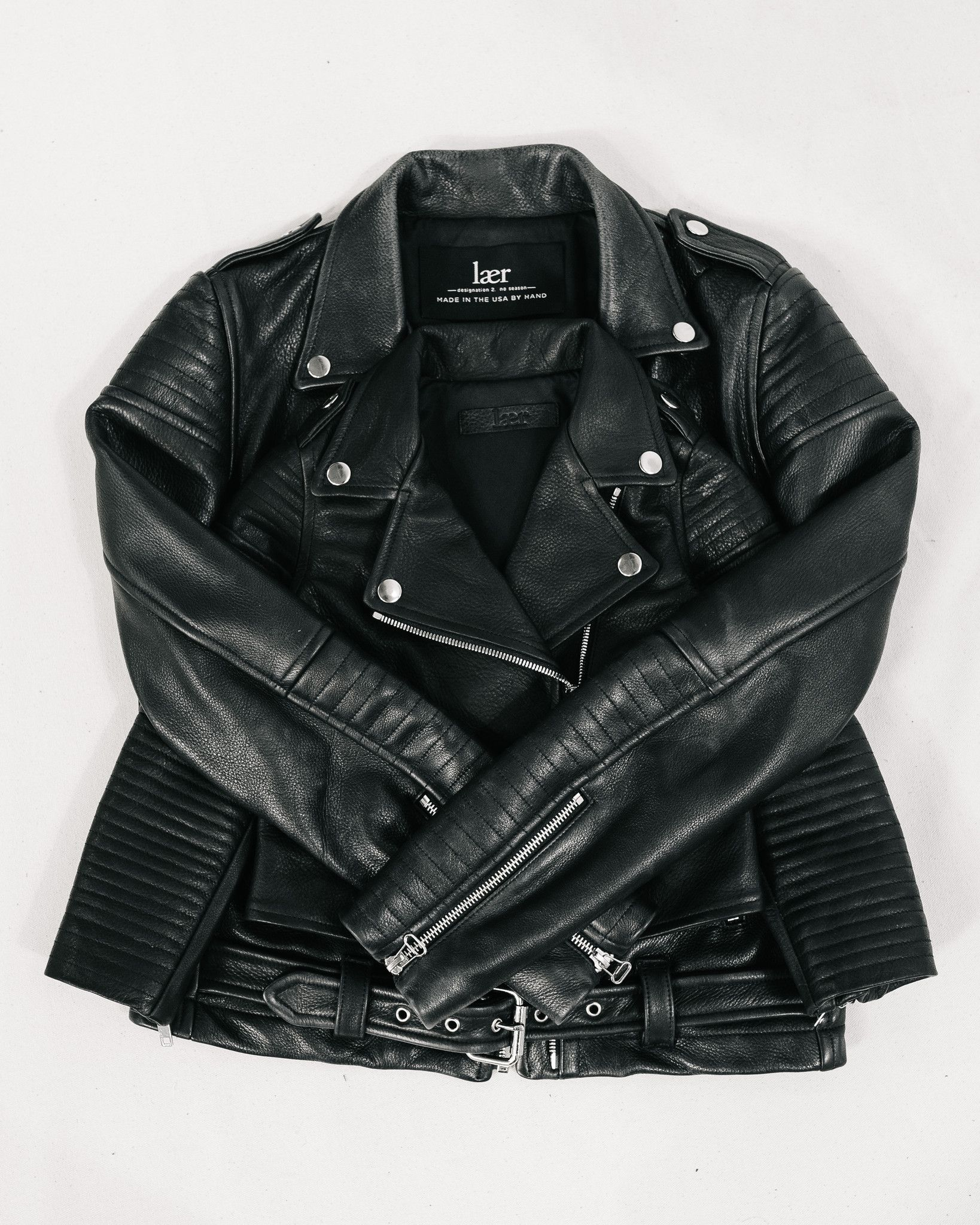 Laer Brand Leather Jackets and Denim, Made in the USA
