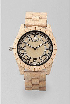 bf97dd92d00 flud big ben wood watch