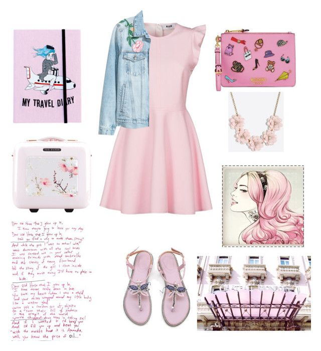 """""""Spring fashion"""" by magdalena-lugumerski on Polyvore featuring MSGM, Moschino, Valfré, Ted Baker and J.Crew"""