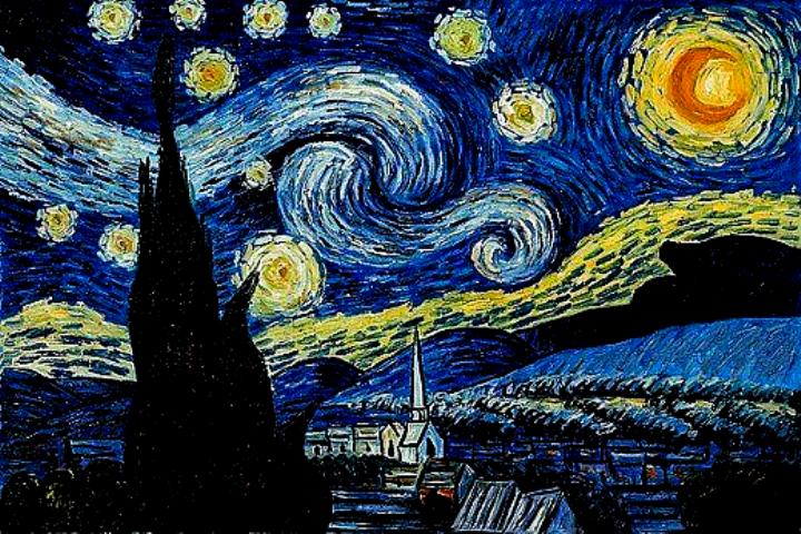 Wallpaper For Laptop In 2020 Starry Night Art Starry Night Van Gogh Van Gogh Wallpaper