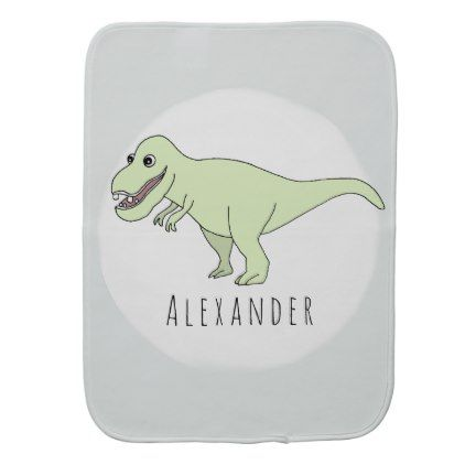 Baby boy doodle t rex dinosaur with name burp cloth baby gifts baby boy doodle t rex dinosaur with name burp cloth baby gifts child new negle