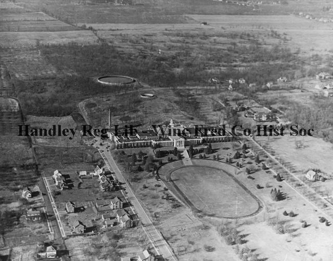 Aerial view of handley high school taken on january 17
