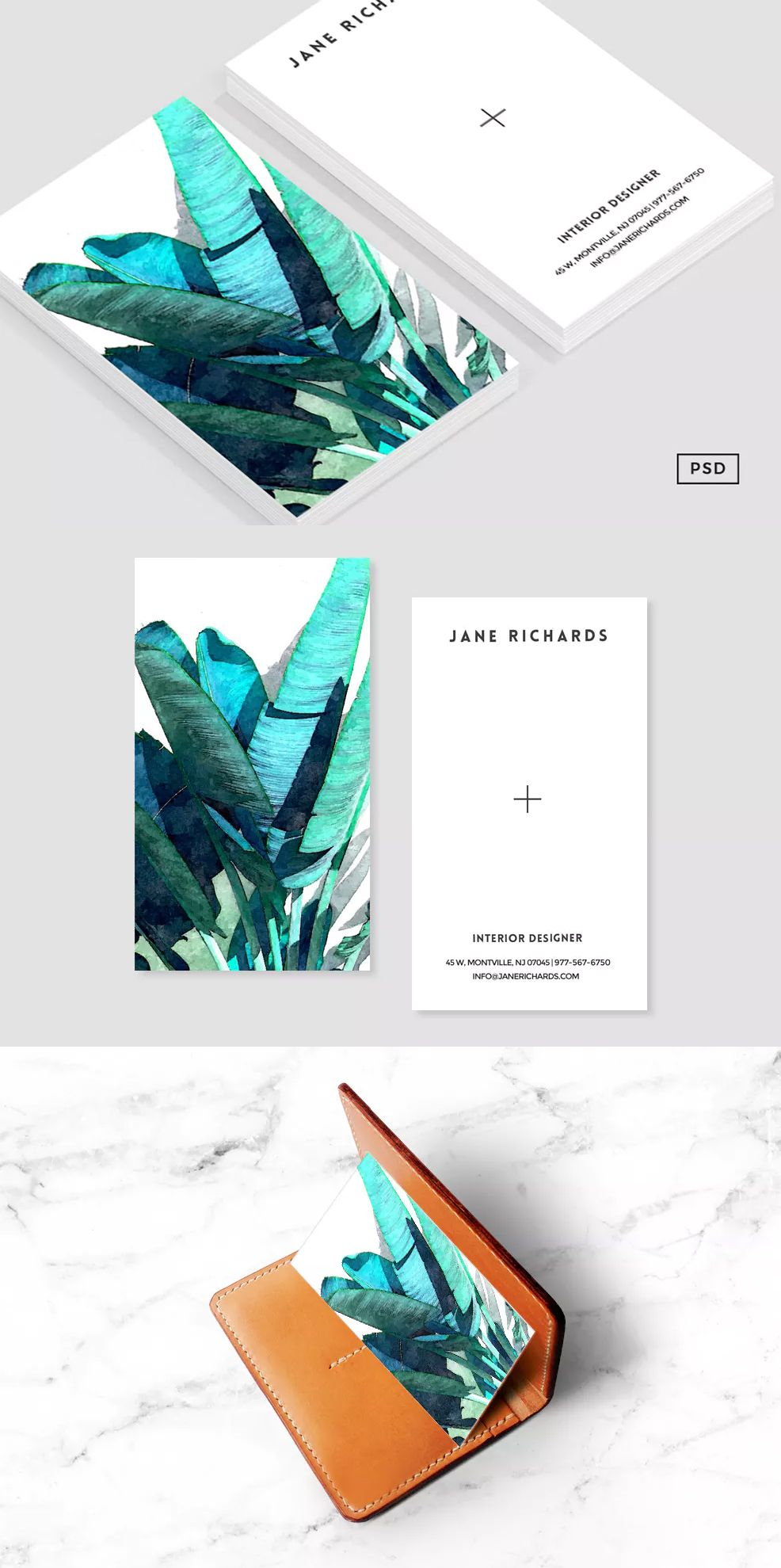 Banana Leaf Business Card Template PSD | Business Card Templates ...
