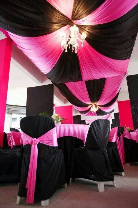 Pink Black and White Wedding | Ideas for Black/Hot Pink and bling ...