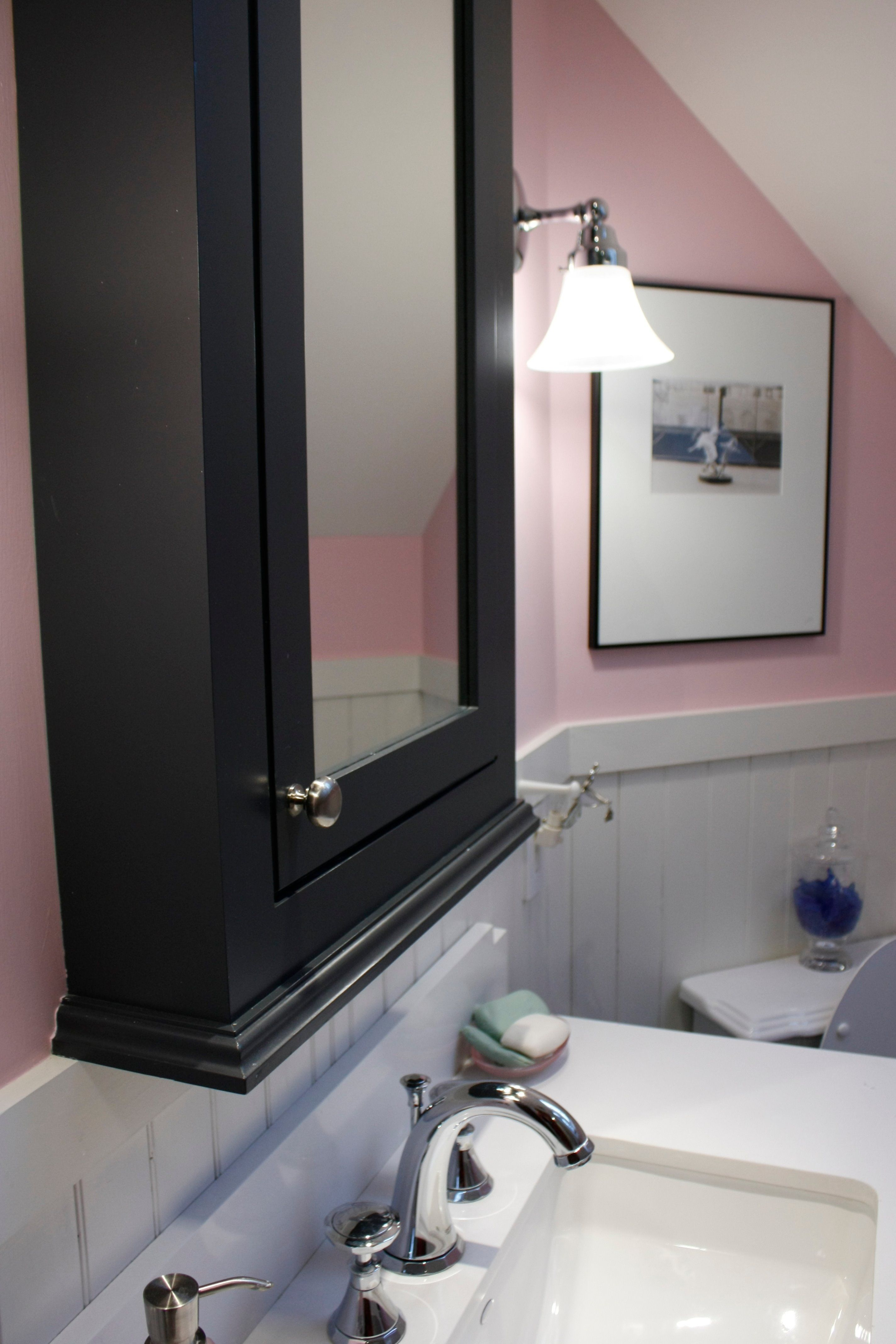 Pink Black And White Bathroom Ideas Part - 39: Romantic Style Bathroom In Pink Black And White