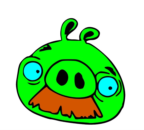 Angry Birds Pig Mustache Angry Birds Pigs Angry Birds Pig