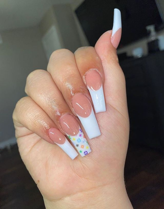 Xclusivejaz In 2020 Multicolored Nails Bling Acrylic Nails Glow Nails