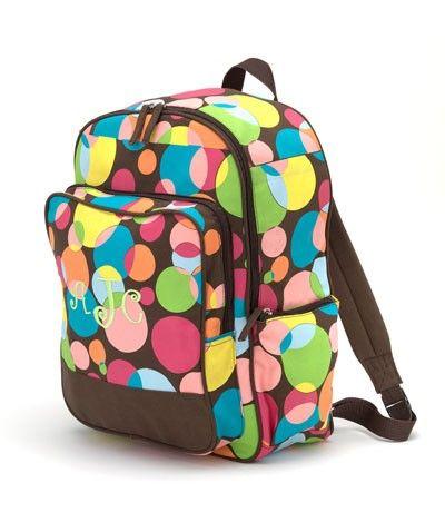 Monogrammed Kid's Backpack - Wacky Dots ($7.98)