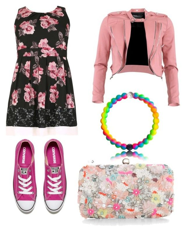 """Pink"" by jaqueline-grace on Polyvore featuring Samya, FRACOMINA, Converse and Accessorize"