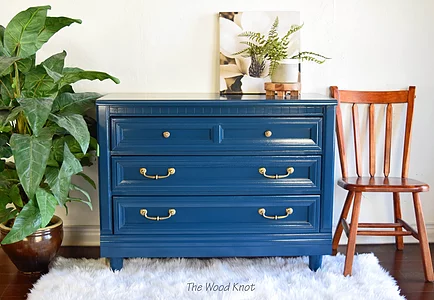 Moscow Midnight Blue And Gold Dresser woodknot
