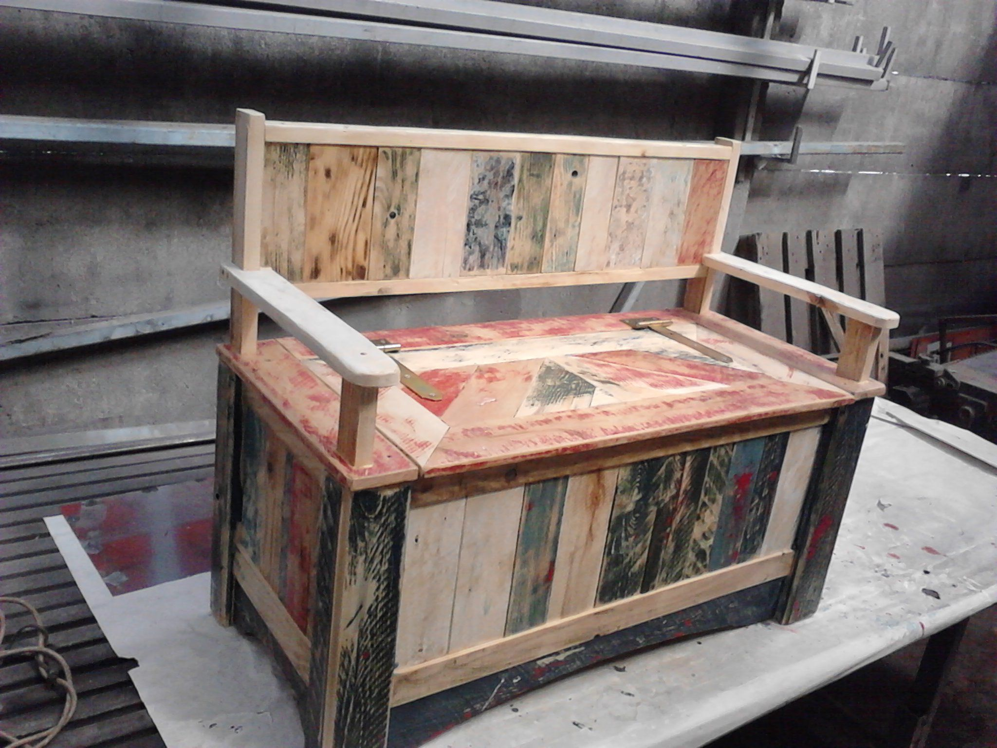 beautiful pallet storage bench pallet storage storage