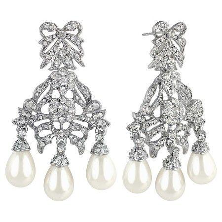Kenneth Jay Lane Black Crystal Drop Clip Earrings Crystal nkoIdflr3