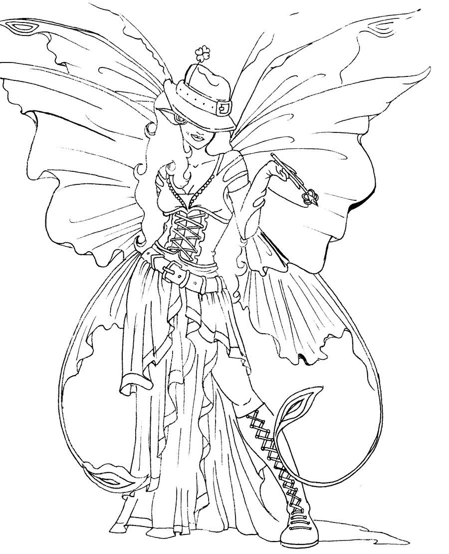 Line Art For Dooberrie Fairy Coloring Pages Fairy Coloring Detailed Coloring Pages