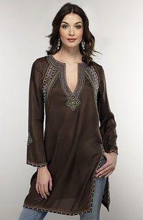 Jayayamala Women Brown Cotton Tunic Collar Neck Shirt Down The Button Work Dress