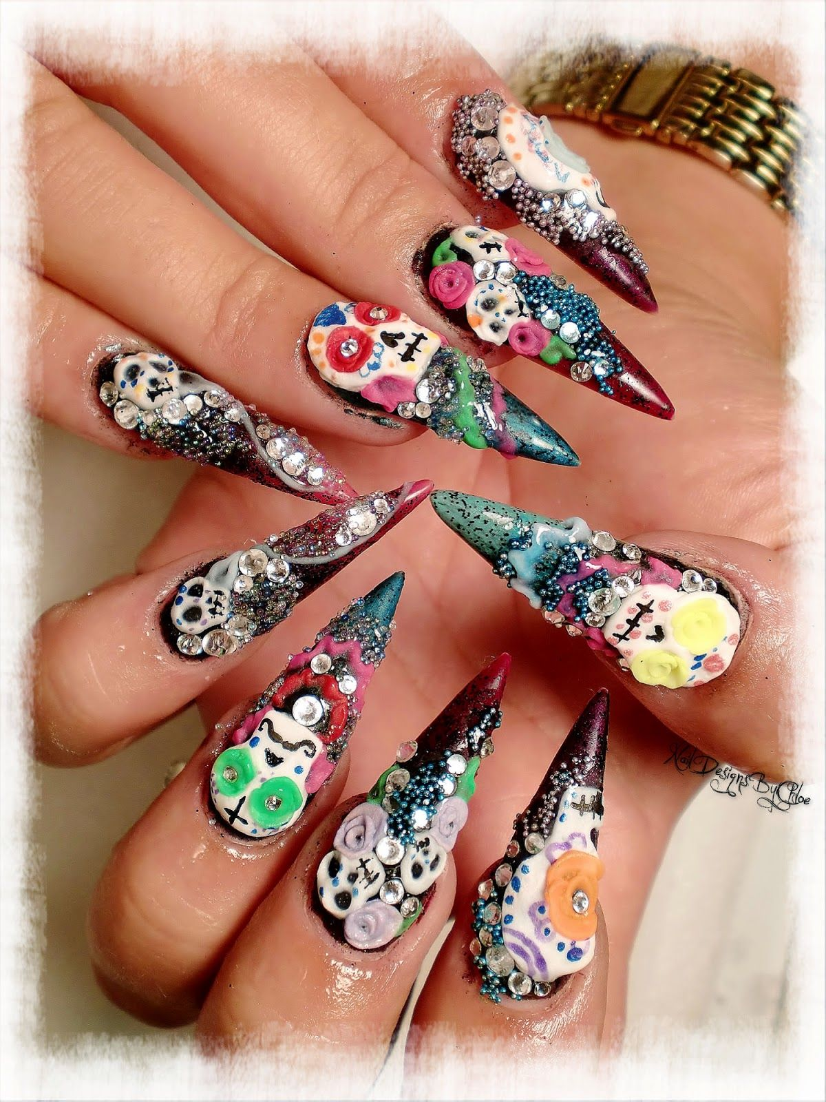 Nail Designs By Chloe: Day of the Dead | My favorite nails ...