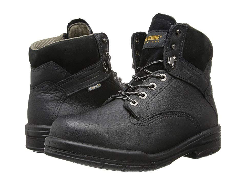 04b7b519487 Wolverine 6 DuraShocks(r) SR Steel-Toe Boot (Black) Men's Work Boots ...