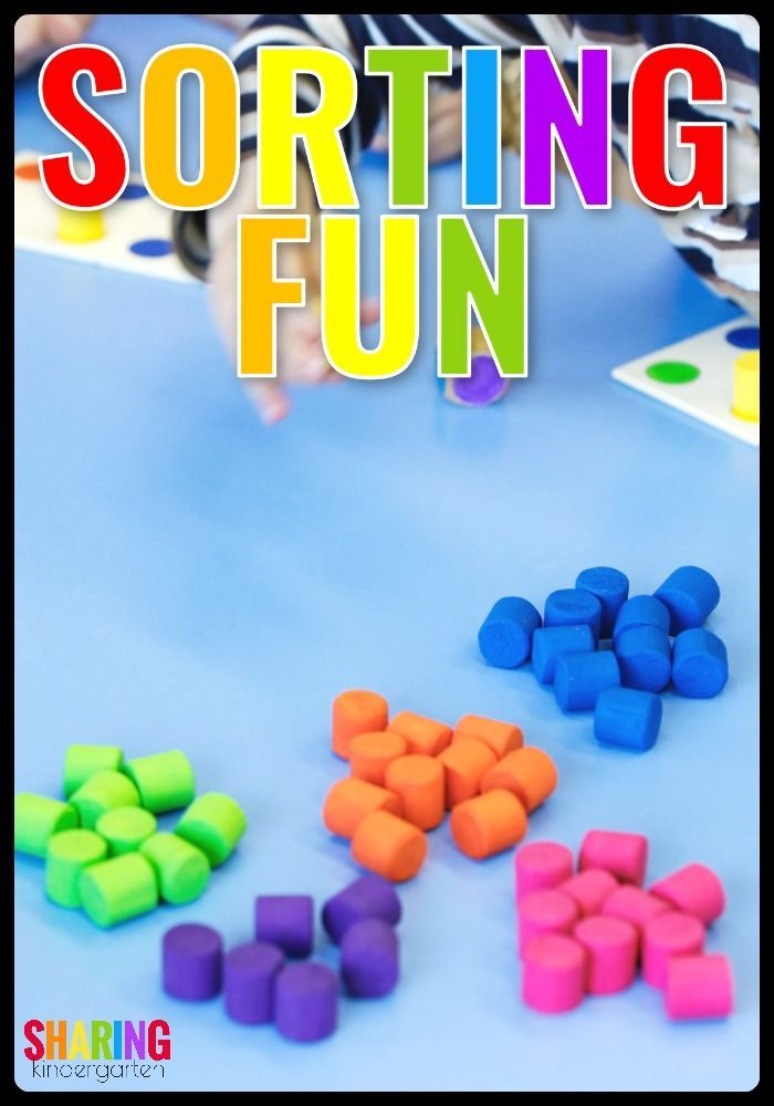 Sorting Fun.... Colors and Math Game for Preschoolers and Kindergarten! #Preschool #Math #Kindergarten