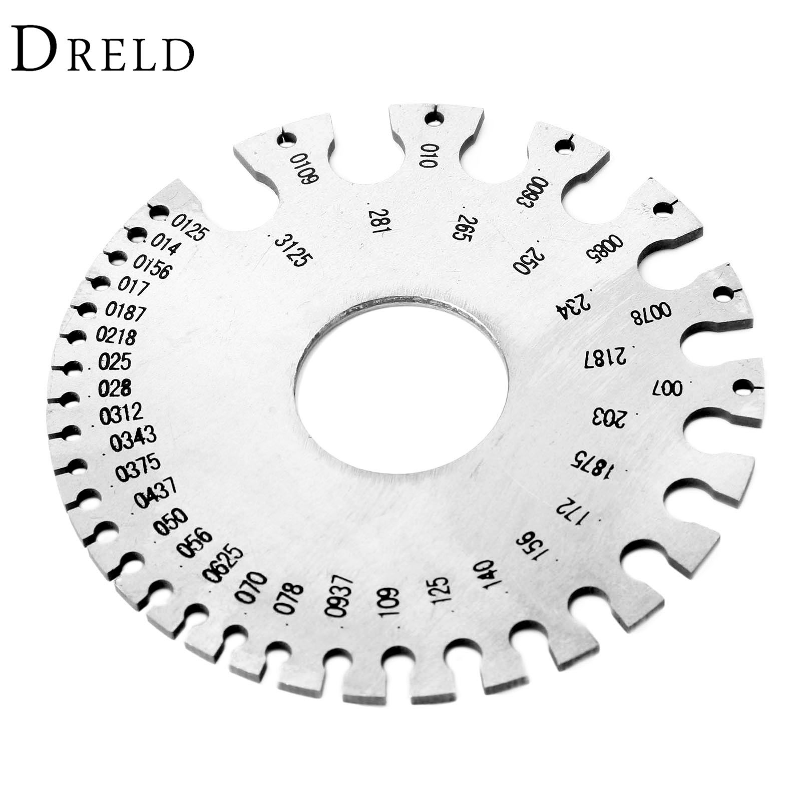 DRELD 0-36 Stainless Steel Wire Gauge Weld Diameter Gauge Welding ...