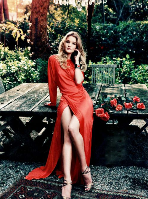 Rosie Huntington Whiteley in Glamour, USA, July 2011